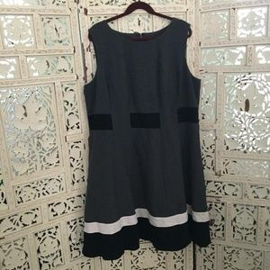 Calvin Klein colour block career dress